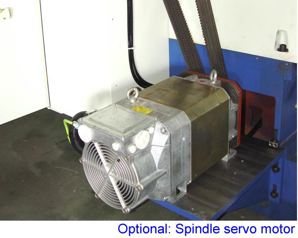 Servo motor for spindle positioning