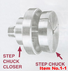 step chuck closer for cyclematic and hardinge lathes