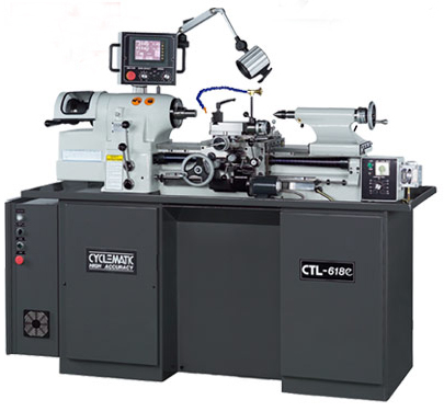 Cyclematic 618e toolroom lathe with digital thread cutting