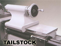 the solid tailstock of the cyclematic CT1118 cnc lathe