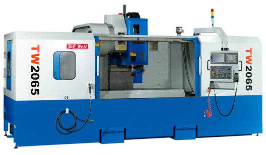 Topwell TW2065 vertical machining center with 80 x 26 travels