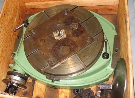 used Walter RI-630-TG rotary table with indexing plates