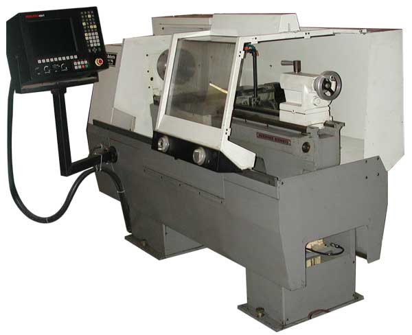 "used Standard Modern 14"" cnc lathe with Anilam control"